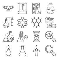 Pack of Science and Experiment Linear Icons vector