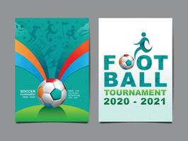 layout football, template design soccer. vector