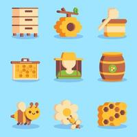 Honey Bee Protection Icon Collections vector