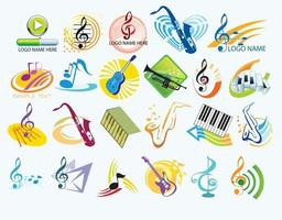 Music Logo Design element pack vector download