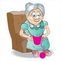 Grandma Cartoon Character and Illustration vector