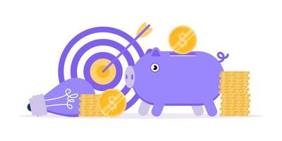 Fundrising composition concept of crowdfunding. vector