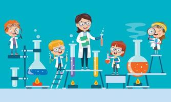 Concept Of Chemistry Experiment vector