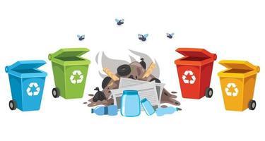 concepto de limpieza y reciclaje. vector