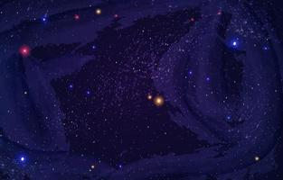 Shining Shimmering Outer Space Background vector