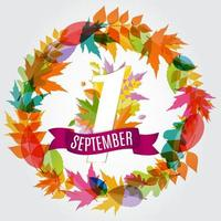 First 1 September Template Vector Illustration