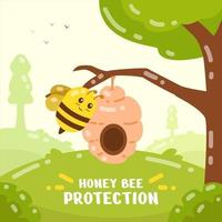 Honey Bee Protection Activism vector