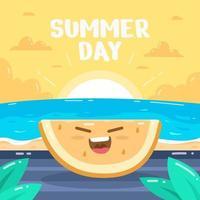 Summer Happy Melon vector