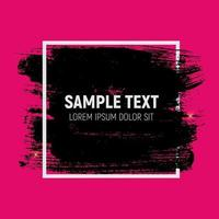 Abstract Brush Stroke Designs in Black, Pink and White Texture w vector