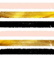 Gold Paint Glittering Textured Art Illustration. Vector