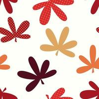 Abstract Natural Leaves Seamless Pattern Background vector