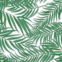 Palm Tree Leaf Silhouette Seamless Pattern Background Vector Illustration