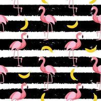 Cute Seamless Flamingo Pattern Vector Illustration