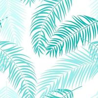 Palm Tree Leaf Silhouette Seamless Pattern Background vector
