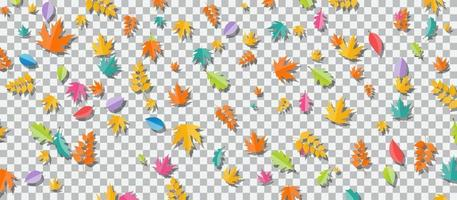 Set of multi-colored autumn leaves vector
