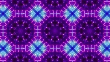 Circle Shape Neon Kaleidoscope video