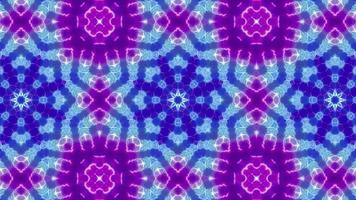 Fast Three Floral Color Kaleidoscope video