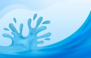 fondo de salpicaduras de agua vector