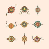 Rakhi Designs for Raskha Bandhan Celebration vector
