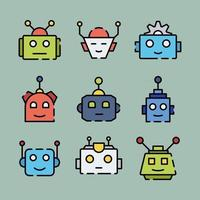 Cute Chatbot Icon vector