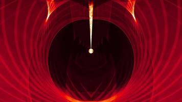 tunnel spaziale vortice onda maglia rossa loop art video