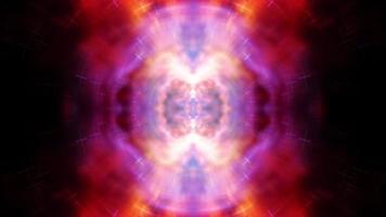 boucle de motif futuriste trippy mandala coloré multicolore kaléidoscope video