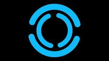 fundo de sinal de carregamento azul simples video