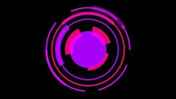 fundo de tecnologia cibernética hud vermelho video