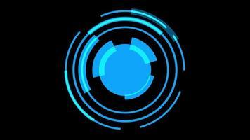 fundo de tecnologia cibernética hud azul video