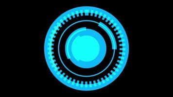 Blue HUD spining circle background video