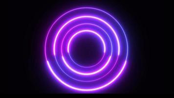 fond de technologie cercle néon secouant video