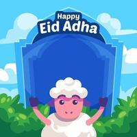 Eid Adha Sheep Background vector