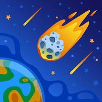 Meteor Falling to Earth vector