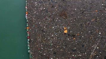 Trash, plastic, water, garbage, waste, pollution, ecology, rubbish, environment, nature, river, collection, environmental, recycling, recycle, bottle, litter, ecological, concept, ocean, sea, problem, junk, clean, dirty, eco, vector, care, coast, backgrou video