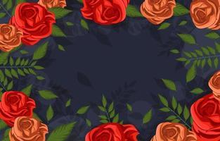 Red Roses Flower Background vector