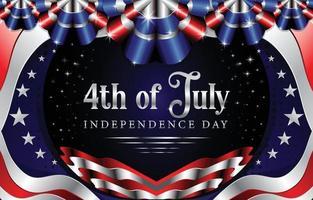 Happy 4th Of July Concept vector