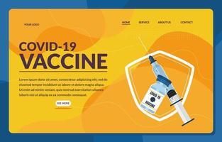 Vaccination Covid 19 Landing Page vector