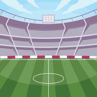 Soccer Stadium in the Afternoon vector
