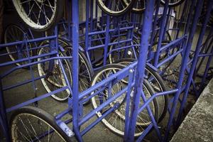 Spare bicycle wheels photo