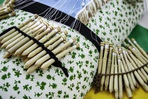 Bobbin lace traditional photo