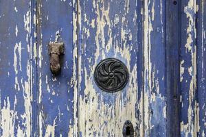 Blue wood background photo