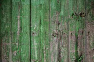 Green painted wooden wall photo