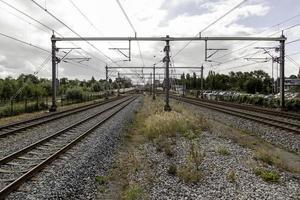 Train tracks in Amsterdam photo