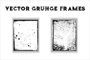 Grunge border frames vector
