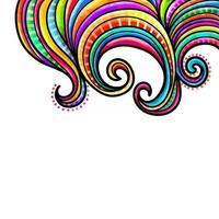 Watercolor Folk Art Swirl Border vector