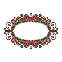 Oval Doodle Frame vector
