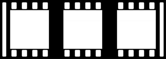Cinema Film Roll Frames vector