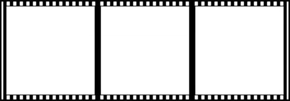 Cinematic Film Roll Frames vector