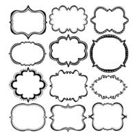 Doodle Frame Collection vector