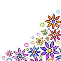 Artistic Floral Border Decor vector